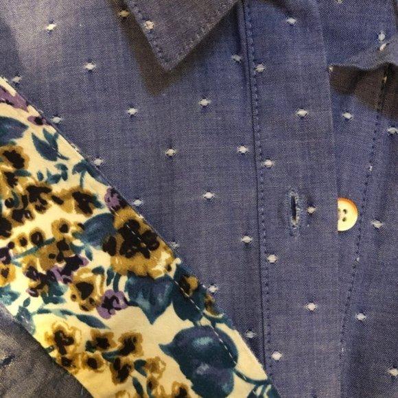 Isabelle Sinclair Cotton Cottage Core Shirt Dress